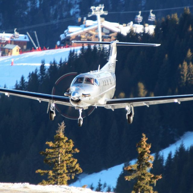 One of our PC12s on final courchevelofficiel ! nextgenaviation Flyingpersonalagainhellip